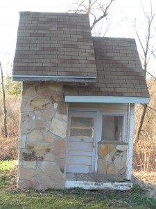 Older kids playhouse with stone facade