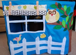 Window Panel Felt Kids Playhouse