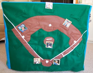 Baseball Panel Felt Kids Playhouse