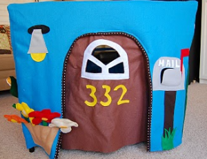 Front Panel Felt Kids Playhouse