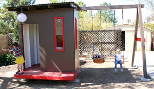 Modernistic styled kids playhouse