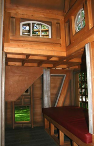 Inside the pirate's kids playhouse