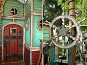 Kids playhouse pirate ship accessories