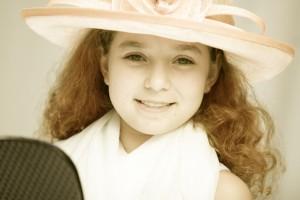 Fashion girl in kids playhouse