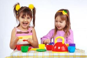 kids tea in kids playhouse